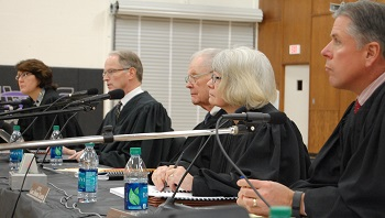 Justice Dale Sandstrom posed a question to attorney Grossman.