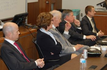 The visit ended with  lunch and a panel discussion with members of the Greater Grand Forks County Bar  Association.